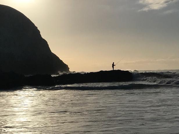 Fisherman at Coffee Bay