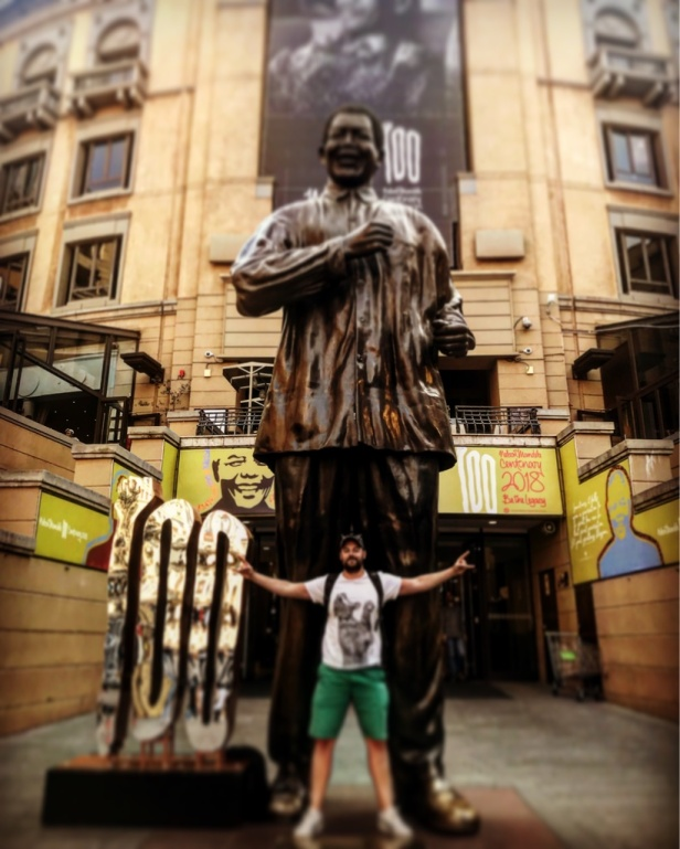 Tadhg Peavoy in Nelson Mandela Square