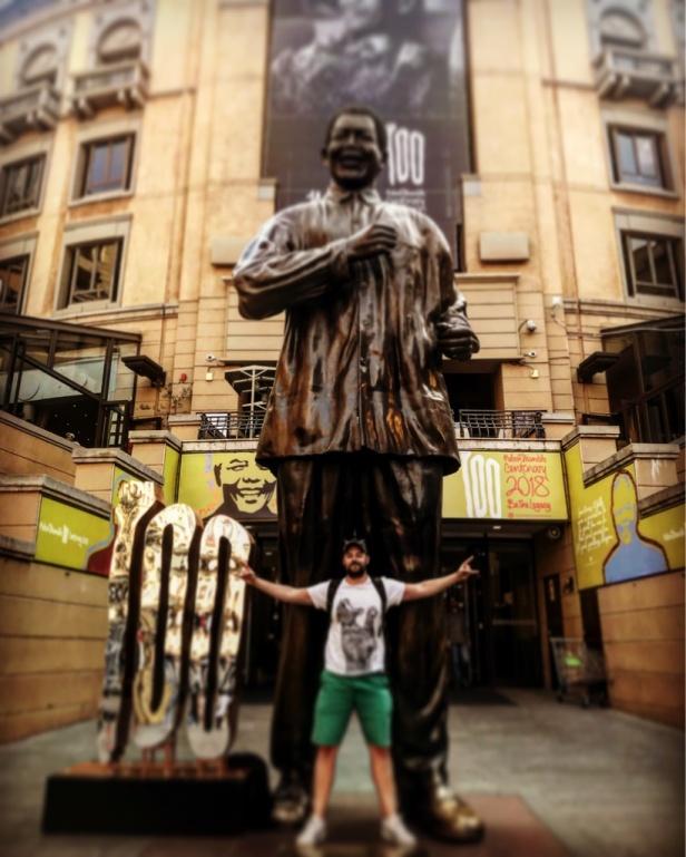 Tadhg Peavoy in Nelson Mandela Square