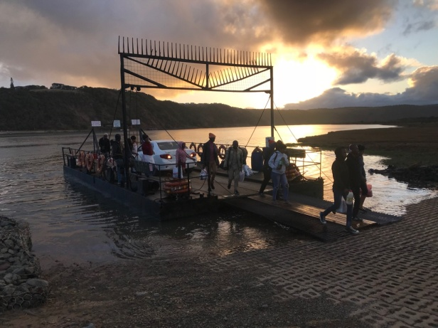 The Kei River ferry