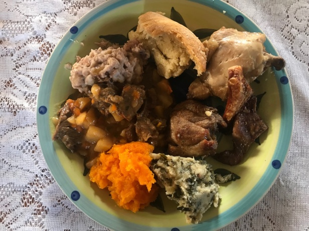 Traditional Xhosa meal served in Ngxingxolo