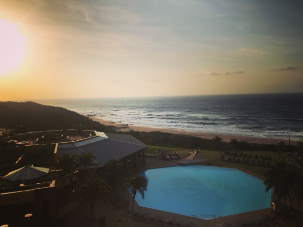 View of the Indian Ocean from the Wild Coast Hotel